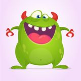 Angry cartoon green monster. Vector illustration of  monster character for Halloween. Angry cartoon green monster. Vector illustration of  monster character for Royalty Free Stock Image
