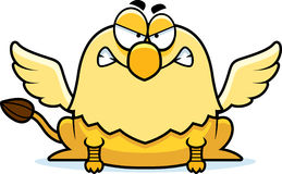 Angry Cartoon Griffin. A cartoon illustration of a griffin looking angry stock illustration