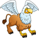 Angry Cartoon Griffin Stock Images