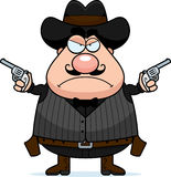 Angry Cartoon Gunfighter Stock Photos