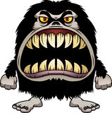 Angry Cartoon Hairy Monster Royalty Free Stock Images
