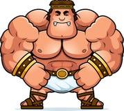 Angry Cartoon Hercules. A cartoon illustration of Hercules looking angry Stock Images