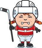 Angry Cartoon Hockey Player Stock Image