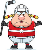 Angry Cartoon Hockey Player Royalty Free Stock Photo