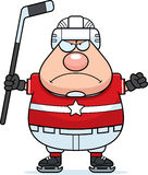 Angry Cartoon Hockey Player Royalty Free Stock Photography