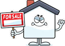 Angry Cartoon Home Sale Royalty Free Stock Photos