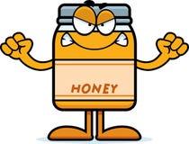 Angry Cartoon Honey Jar Stock Photo