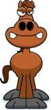 Angry Cartoon Horse Royalty Free Stock Photos