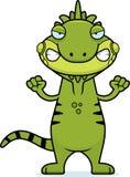 Angry Cartoon Iguana Stock Images