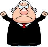 Angry Cartoon Judge Royalty Free Stock Photos