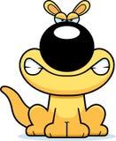 Angry Cartoon Kangaroo Stock Image