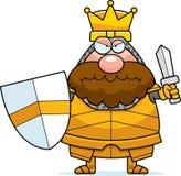 Angry Cartoon King Stock Photos