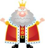 Angry Cartoon King Stock Image