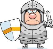 Angry Cartoon Knight Royalty Free Stock Image
