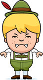 Angry Cartoon Lederhosen Boy Royalty Free Stock Photo