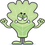 Angry Cartoon Lettuce Leaf Royalty Free Stock Image