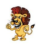 Angry cartoon lion Royalty Free Stock Photo