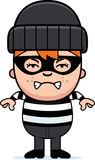 Angry Cartoon Little Burglar. A cartoon illustration of a little burglar looking angry Stock Photo