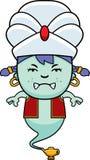Angry Cartoon Little Genie Stock Image