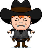 Angry Cartoon Little Gunfighter Royalty Free Stock Images