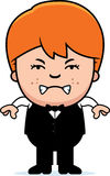 Angry Cartoon Little Waiter Stock Photography