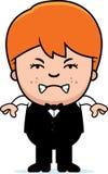 Angry Cartoon Little Waiter Stock Photography