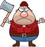 Angry Cartoon Lumberjack Royalty Free Stock Image