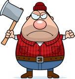Angry Cartoon Lumberjack Royalty Free Stock Image