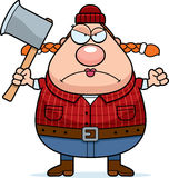 Angry Cartoon Lumberjack Royalty Free Stock Photography