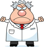 Angry Cartoon Mad Scientist Royalty Free Stock Images