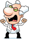 Angry Cartoon Mad Scientist Royalty Free Stock Photos