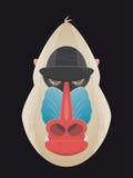 Angry cartoon mandrill. Illustration of an angry cartoon mandrill Royalty Free Stock Photography