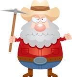 Angry Cartoon Miner Stock Photo