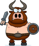 Angry Cartoon Minotaur Royalty Free Stock Photography