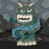 Angry cartoon monster Stock Photos