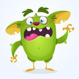 Monster. Angry cartoon monster. Halloween vector illustration royalty free illustration