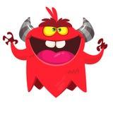 Angry cartoon monster. Vector Halloween monster character.  vector illustration