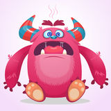 Angry cartoon  monster. Vector Halloween illustration. Royalty Free Stock Image