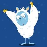 Angry cartoon monster yeti. Vector Halloween bigfoot character Stock Photos