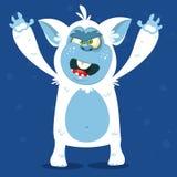 Angry cartoon monster yeti. Vector Halloween bigfoot character. Royalty Free Stock Photography