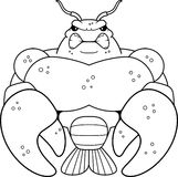 Angry Cartoon Muscular Crawfish Royalty Free Stock Photography
