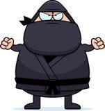 Angry Cartoon Ninja Stock Photo