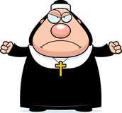 Angry Cartoon Nun Royalty Free Stock Images