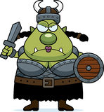 Angry Cartoon Orc Royalty Free Stock Image