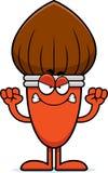 Angry Cartoon Paintbrush Stock Image