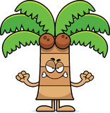 Angry Cartoon Palm Tree Stock Photo