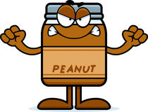 Angry Cartoon Peanut Butter Stock Photography