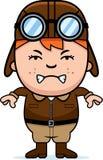 Angry Cartoon Pilot Stock Images