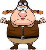Angry Cartoon Pilot Royalty Free Stock Image