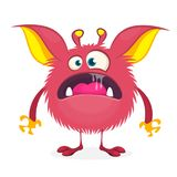 Angry cartoon pink monster. Vector illustration of  monster character for Halloween. Angry cartoon pink monster. Vector illustration of  monster character for Royalty Free Stock Images